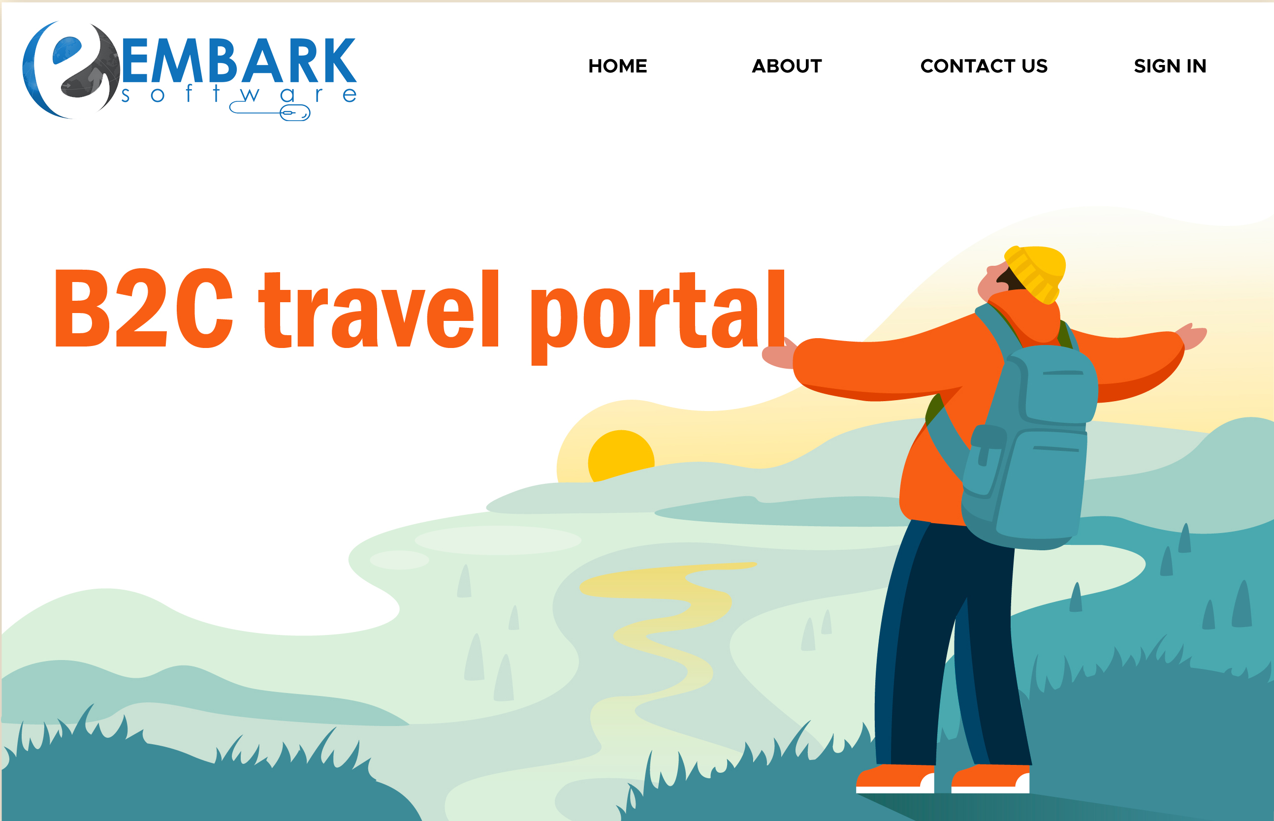 Why to choose the Embark Software for B2C travel portal solution?
